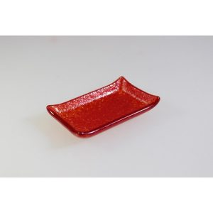 CANAPÉ TRAY - RECTANGULAR RED - 8 x 6cm (6)