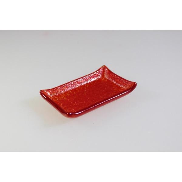 CANAPÉ TRAY - RECTANGULAR RED - 8 x 6cm (6)
