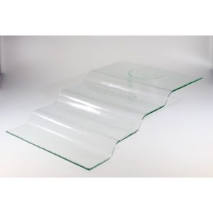 4-STEP STAND - CLEAR GLASS 66 x 40 x 13cm