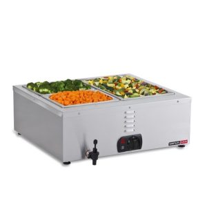 BAIN MARIE TABLE TOP - 2 DIVISION