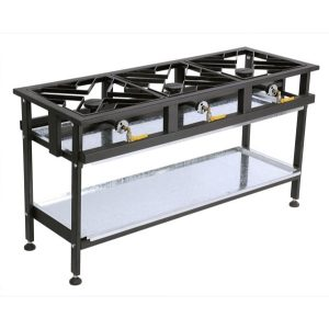 BOILING TABLE GAS - COMMERCIAL - 3 BURNER STRAIGHT