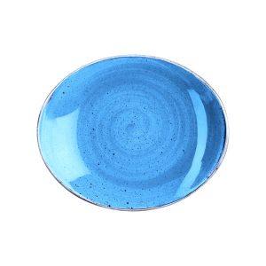 CORNFLOWER BLUE - OVAL PLATE - 19.2cm (12)
