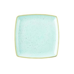 DUCK EGG BLUE - DEEP SQUARE PLATE - 26.8cm (6)