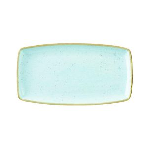 DUCK EGG BLUE - OBLONG PLATE - 29.5 x 15cm (12)
