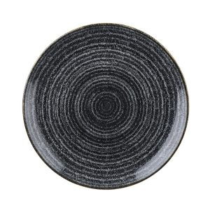 CHARCOAL BLACK - COUPE PLATE - 16.5cm (12)