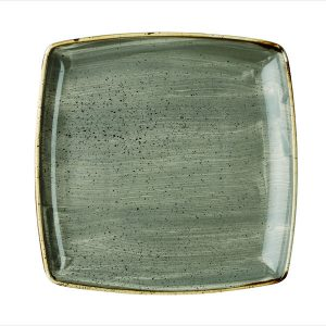 PEPPERCORN GREY - DEEP SQUARE PLATE 26.8CM (6)