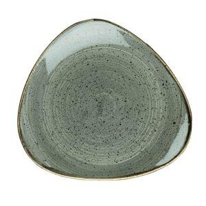 PEPPERCORN GREY - TRIANGLE PLATE 22.9CM (12)