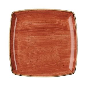 SPICED ORANGE - DEEP SQUARE PLATE - 26.8cm (6)