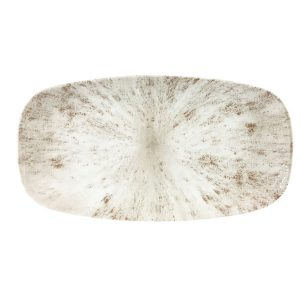 STONE AGATE GREY - OBLONG CHEFS PLATE - 35.5 x 19cm (6)