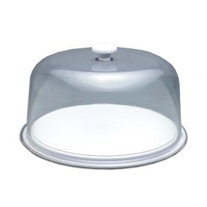 TUFF TRAY CAKE DISPLAY TRAY AND DOME - 325 x 150mm
