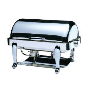 CHAFING DISH EURI RECTANGULAR ROLL TOP 18/10 S/STEEL 667 x 488 x 452mm 8Lt