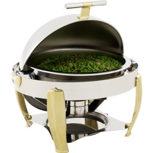 CHAFING DISH DELUX-ROLLTOP (ROUND) 6.8Lt