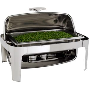 CHAFING DISH S/STEEL-ROLL TOP (RECT) 180 7.5Lt
