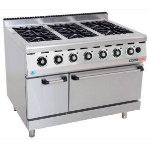 GAS STOVE WITH GAS OVEN ANVIL - 6 BURNER