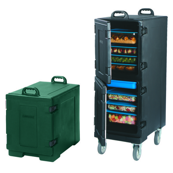 FOOD SERVER FRONT LOADER - DOUBLE (BLACK) 33.1kg - 431 x 622 x 1263mm
