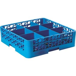 GLASS RACK 9 COMPARTMENT (BLUE)