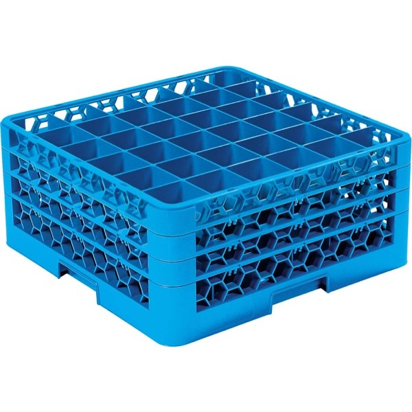 GLASS RACK 36 COMPARTMENT (BLUE)