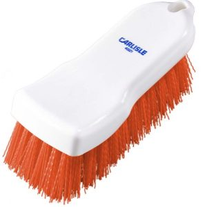 HAND SCRUB BRUSH POLYESTER - 150MM - (RED)