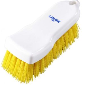 HAND SCRUB BRUSH POLYESTER - 150MM - (YELLOW)