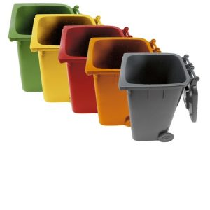 MOBILE REFUSE BIN 130Lt (YELLOW) PLASTIC)