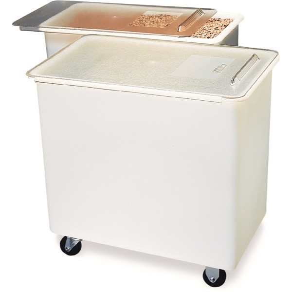 INGREDIENT BIN PORTABLE - 136Lt (WHITE) 365 x 740 x 695mm