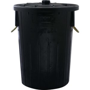 REFUSE BIN 85LT (BLACK) 450 x 630mm (INCLUDES LID)
