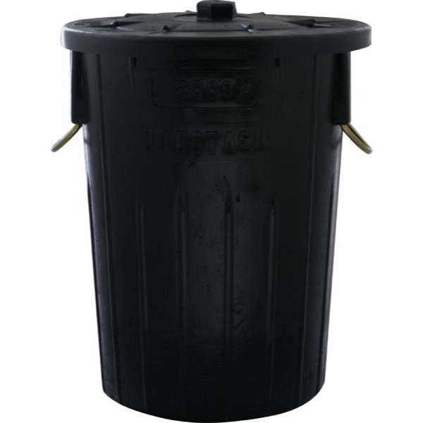 REFUSE BIN 85LT (BLACK) 450 x 630mm (INCLUDES LID)