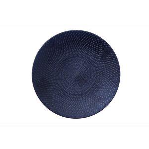 BLACK SWIRL - ROUND COUPE PLATE - 19cm (24)