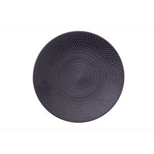 BLACK SWIRL - ROUND COUPE PLATE - 23.5cm (24)