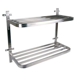 POT RACK S/STEEL - DOUBLE WALL MOUNTED 900 x 400 x 760mm