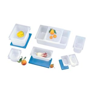 STORAGE CONTAINER FULL LID - POLYPROP (BLUE)