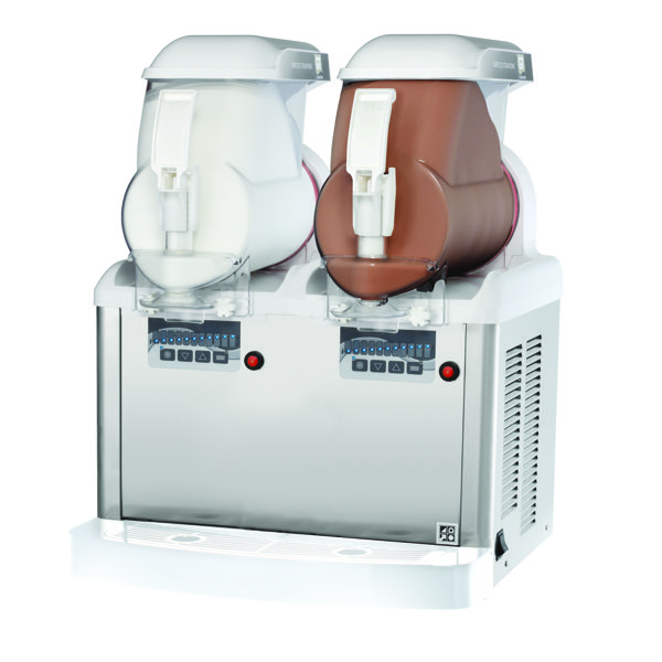 GT2 PUSH SOFT ICE / FROZEN YOGHURT MACHINE - WHITE [2 BOWL]