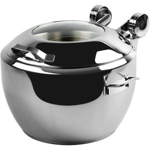 'SMART' W SOUP URN WITH GLASS LID 474 x 434 x 303mm 10Lt