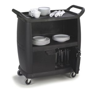 BUSSING AND TRANSPORT CART BLACK - SMALL 965 x 457 x 920mm - 20kg