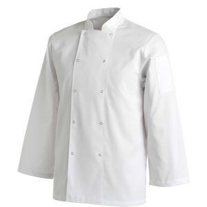 CHEFS UNIFORM JACKET LAUNDRY COAT LONG - MEDIUM
