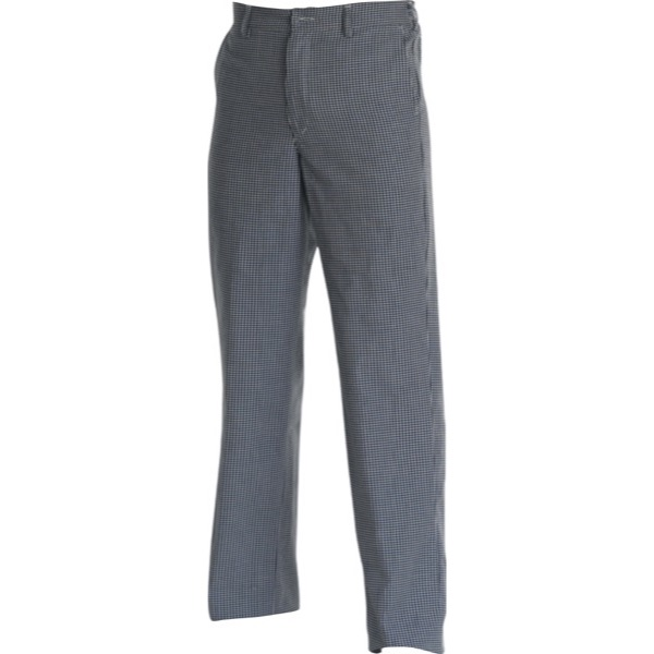CHEFS UNIFORM - TROUSERS BLUE CHECK - X SMALL
