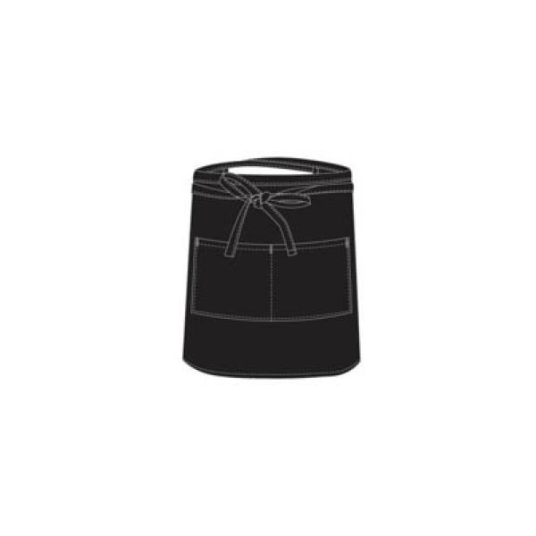 CHEFS UNIFORM - BLACK BAR APRON